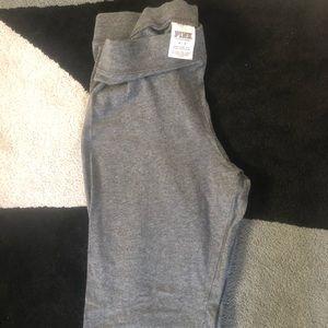 PINK gray full length leggings